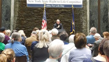Bishop speaks at pro-life lobby day