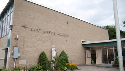 ST. MARY'S ACADEMY in Hoosick Falls, where Masses will be held for Immaculate Conception parish.