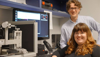 "DRS. CHRISTY SHEEHY AND Zachary Helft plan to ""change the face of neurodiagnostics by providing a window into neurological health through the eyes of patients."" Here, they test their technology."