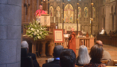 Bishop Edward B. Scharfenberger preaches Oct. 14 at the Episcopal Cathedral of All Saints in Albany at a Choral Evensong for the feast of Our Lady of Walsingham.