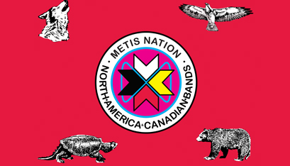 THE METIS NATION FLAG.